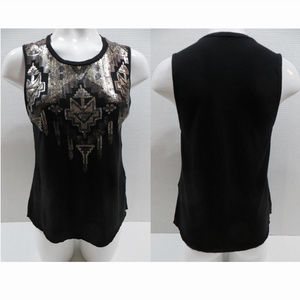 Express top Small sequin embellished tribal tank